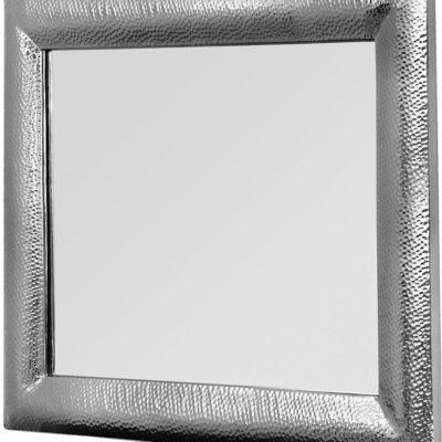 Eleganckie lustro z ciekawą, aluminiową ramą