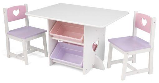 Meble dziecięce - stolik i krzesełka drewniane