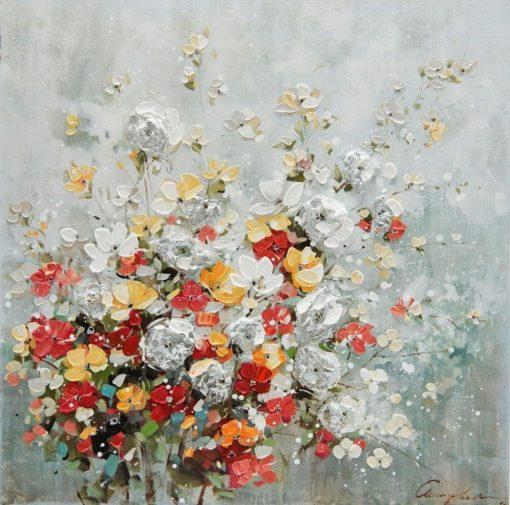 Piękny, ręcznie malowany obraz na płótnie
