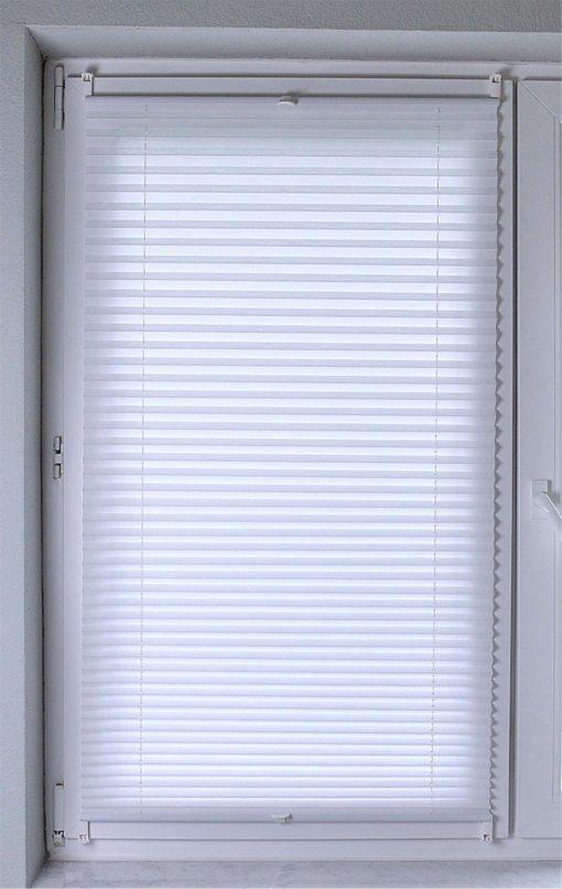 Plisowana roleta w kolorze białym 65x140 cm