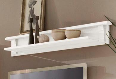Wyjątkowa półka z sosny, w kolorze białym