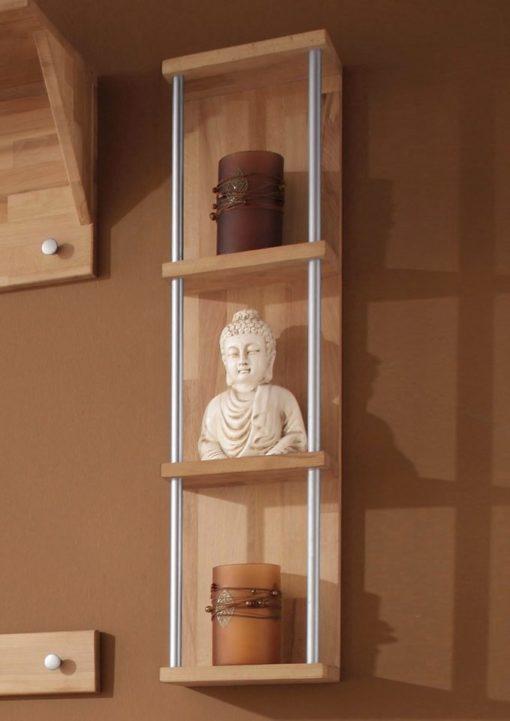 Nowoczesna półka z drewna bukowego