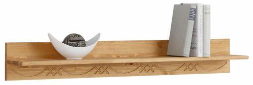 Frezowana półka ścienna z sosny