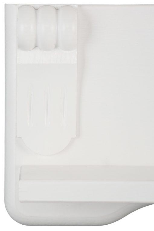 Eleganckie półki ścienne w kolorze białym