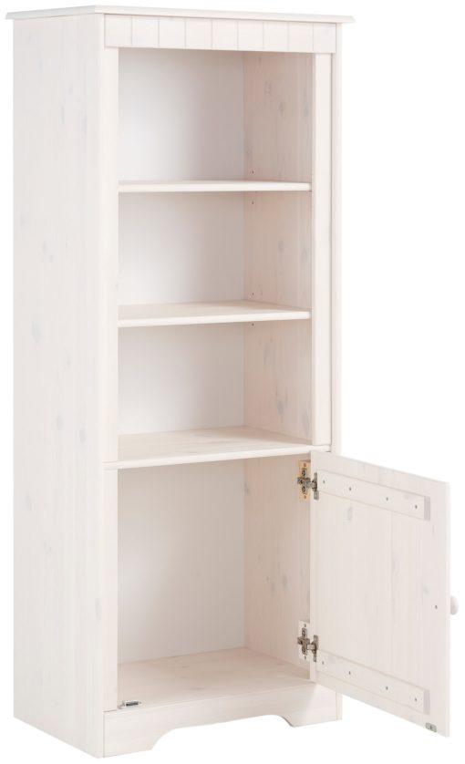 Szlachetny regał z drzwiami w kolorze białym