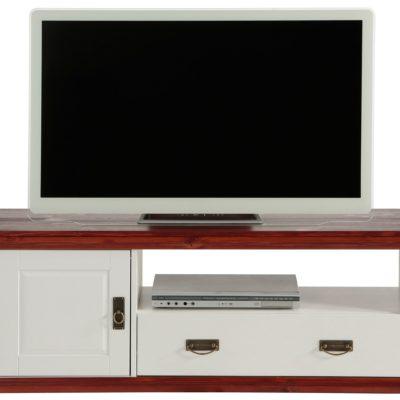 Sosnowa szafka RTV w romantycznym, rustykalnym stylu