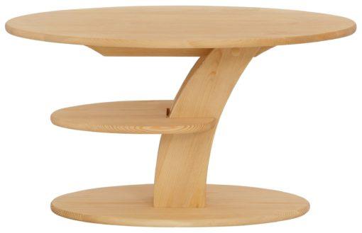 Sosnowy stolik o niezwykłym kształcie