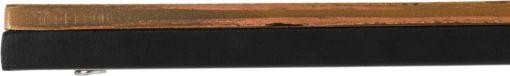 Designerski stolik z żelaza ze złotym blatem