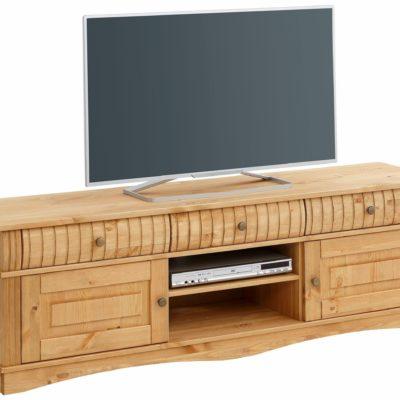 Przepiękna, zdobiona szafka pod telewizor z sosny