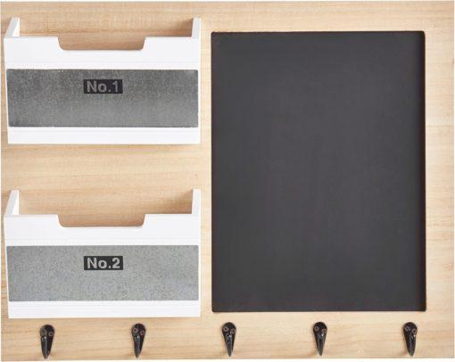 Funkcjonalna tablica z haczykami i schowkami na dokumenty
