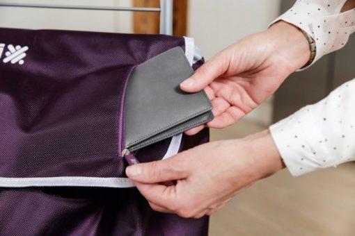 Solidna torba na zakupy na kółkach, wózek zakupowy o pojemności 56l