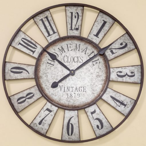Unikalny zegar ścienny z metalu