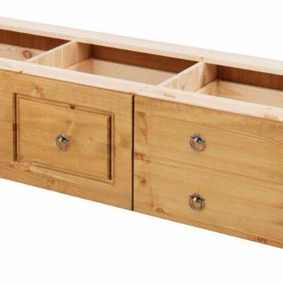 Praktyczny zestaw szuflad pod łóżko z sosny