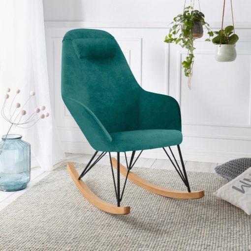 Nowoczesny fotel bujany w skandynawskim stylu