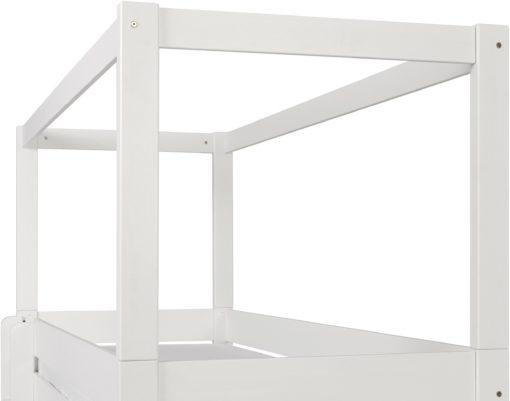 Biały, sosnowy baldachim do łóżka dziecięcego