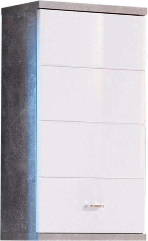 Wisząca szafka łazienkowa biel + beton