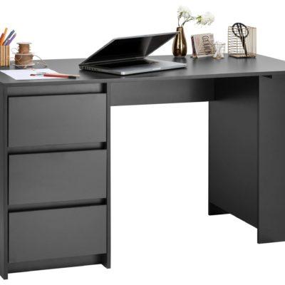 Nowoczesne biurko z szufladami w kolorze grafitowym