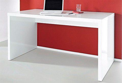 Minimalistyczne biurko, biały połysk