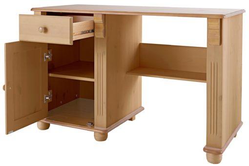 Sosnowe biurko z pięknymi detalami