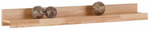 Półka ścienna z frontem z drewna bukowego