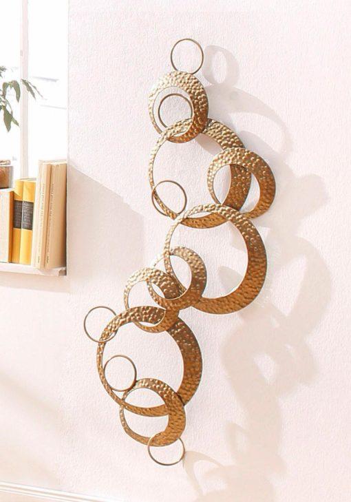 Elegancka dekoracja ścienna w kolorze złota