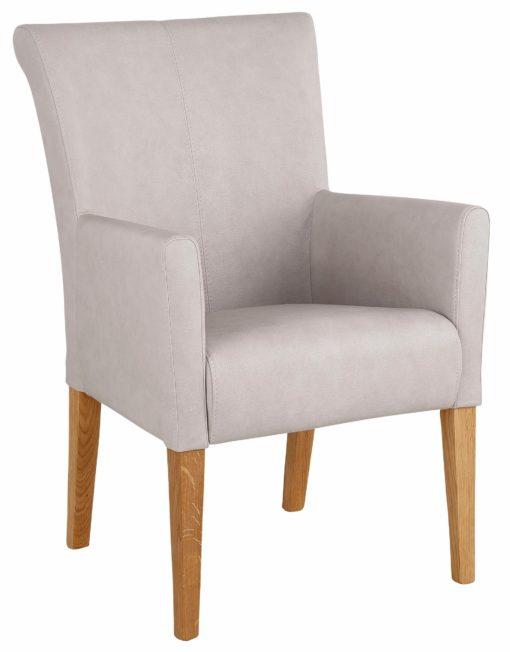 Wygodny, zgrabny fotel, jasnoszary
