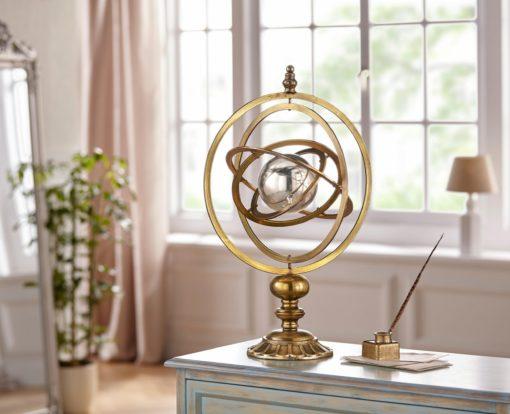 Unikalna dekoracja - złoty globus