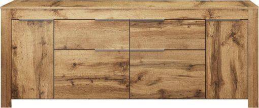 Modernistyczny kredens o wspaniałym wyglądzie drewna