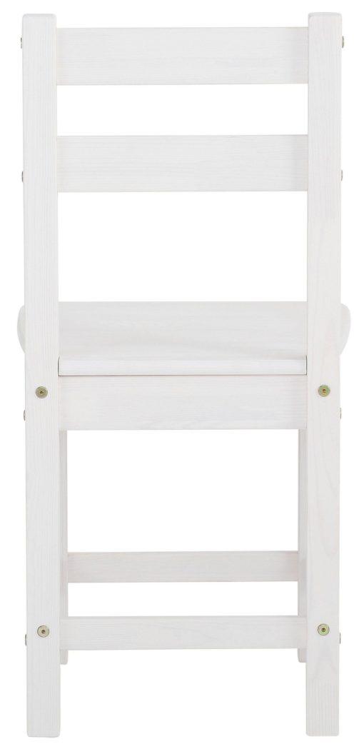 Ponadczasowe, sosnowe krzesła w kolorze białym