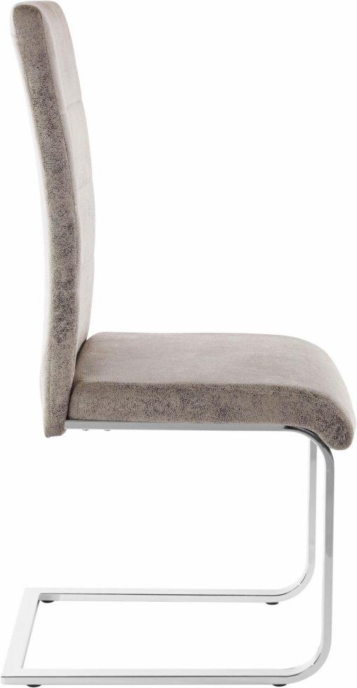 Stylowe krzesła na płozach w kolorze Vintage Gray - 8 sztuk