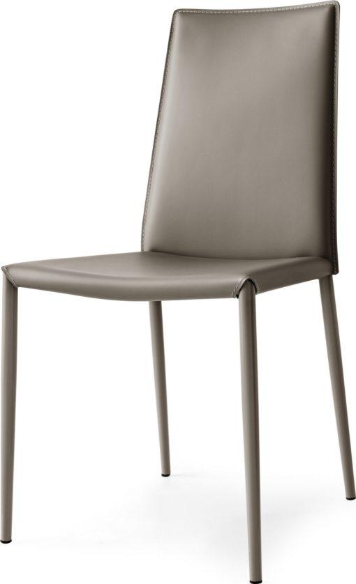 Modernistyczne krzesła z regenerowanej skóry - 2 sztuki
