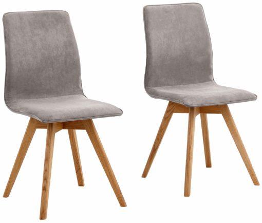 Zestaw nowoczesnych krzeseł w kolorze szarym