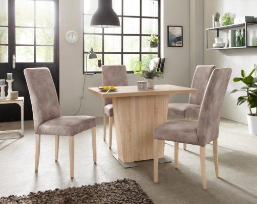 Tapicerowane krzesła w stylu vintage - 8 sztuk