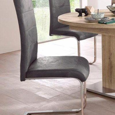Stylowe krzesła na płozach w kolorze Vintage Antracyt
