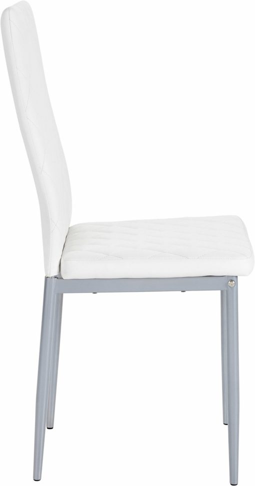 Nowoczesne, białe krzesła na metalowej ramie - 4 sztuki