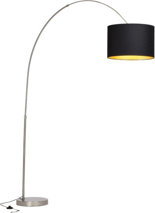 Modna lampa podłogowa z tekstylnym abażurem