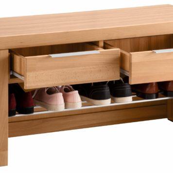 Praktyczna ławka na buty z szufladami