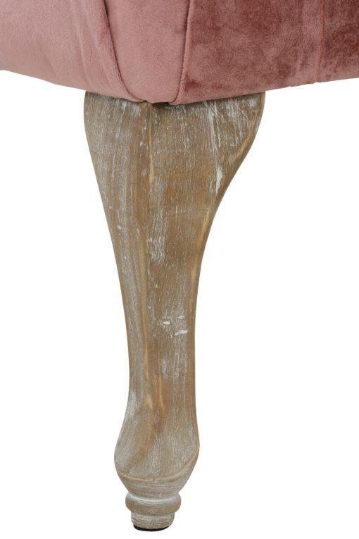 Elegancka ławka tapicerowana w stylu vintage