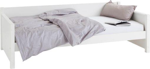 Wygodne, białe łóżko 90x200 cm