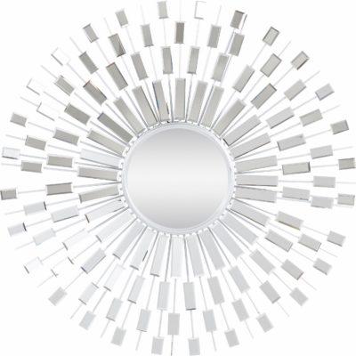 Ekstrawaganckie, srebrne lustro