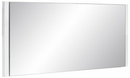 Minimalistyczne lustro z białą ramą