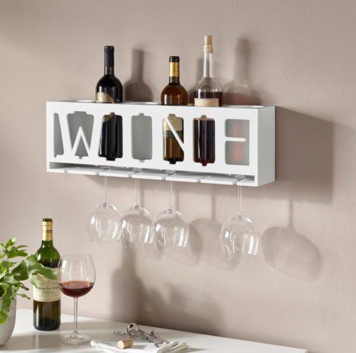 """Półka na wino z wycięciem """"WINE"""""""