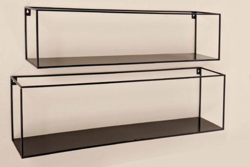 Zestaw minimalistycznych półek z metalu