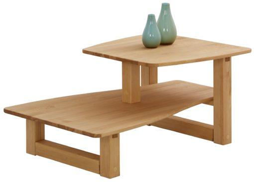 Sosnowy stolik o ekstrawaganckim kształcie