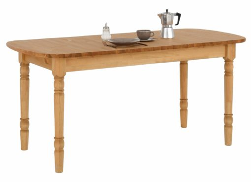 Piękny, sosnowy stół z toczonymi nogami 160 cm