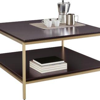 Modernistyczny stolik kawowy ze złotymi nogami
