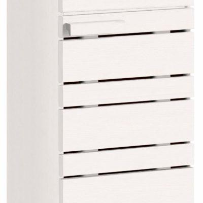 Stojąca szafka łazienkowa z drewna sosnowego - biała