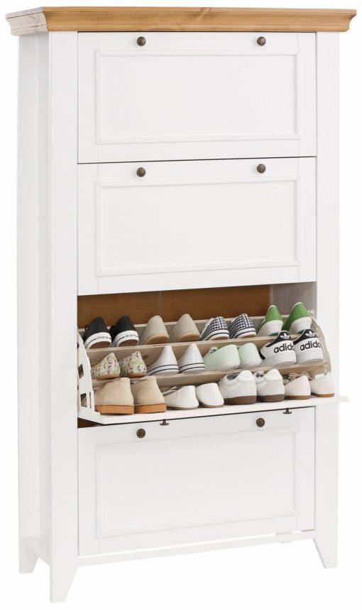 Funkcjonalna szafka na buty z czterema klapami