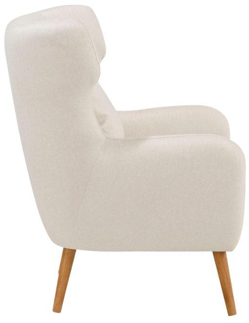 Wygodny, beżowy fotel, jak uszak
