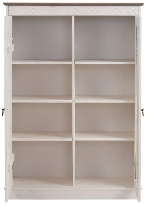 Sosnowa witryna z przeszklonymi drzwiami